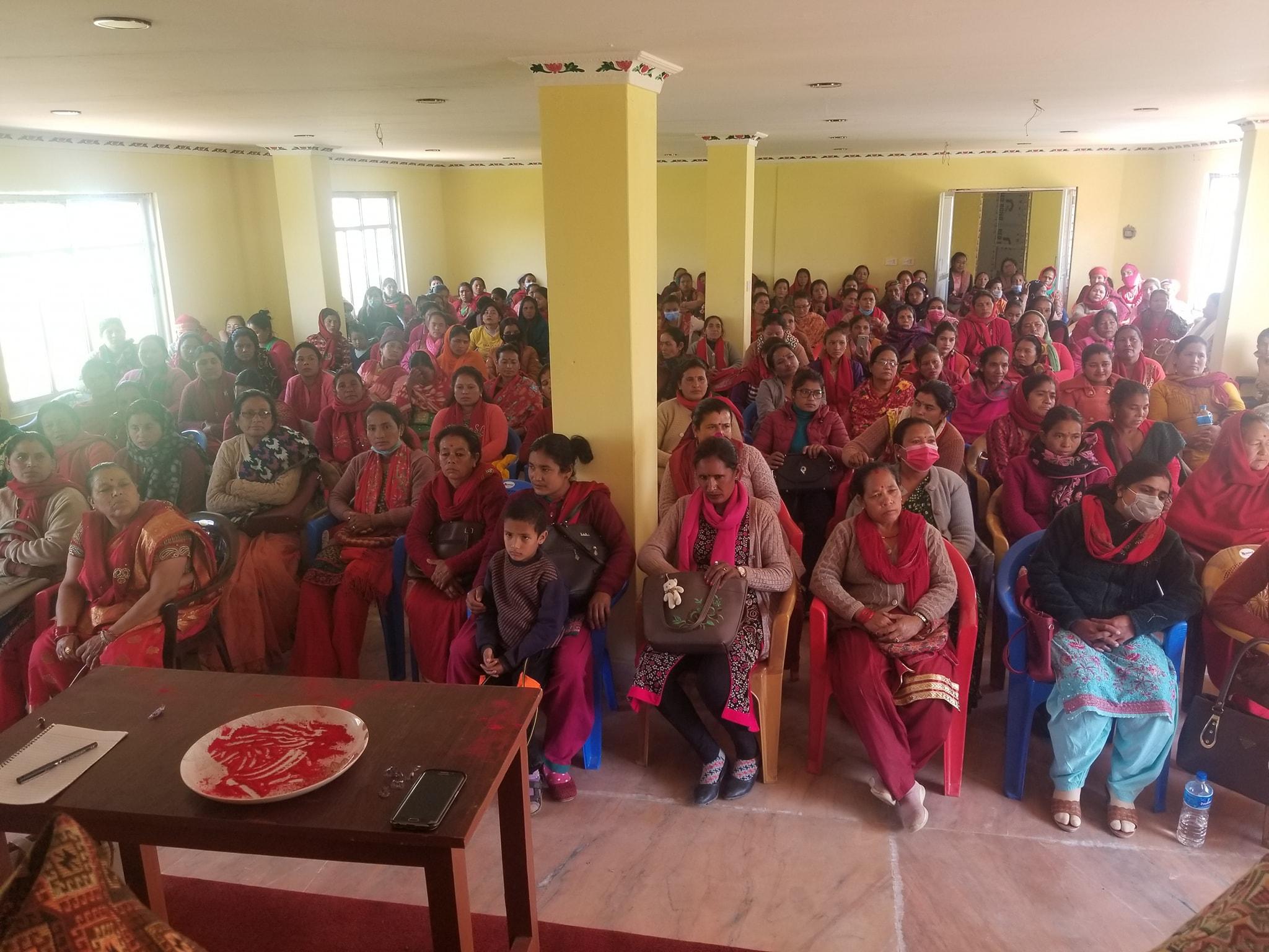 नेपाल कम्युनिष्ट पार्टी नेकपा केपि शर्मा ओली निकट अखिल नेपाल महिला संघको जिल्ला भेला सम्पन्न : १५१ सदस्यीय सम्मेलन आयोजक समिति गठन