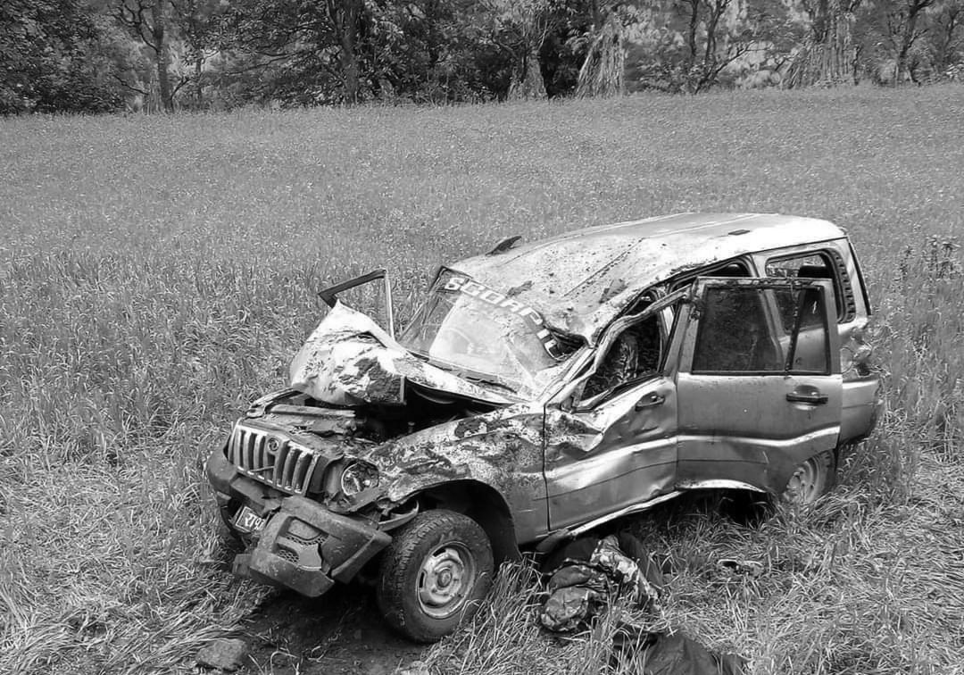 प्यूठानमा स्कार्पियो दुर्घटना १ को मृतु ३ घाइते